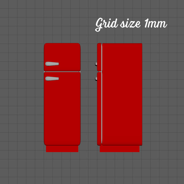 Retro style fridge, 1/144th scale