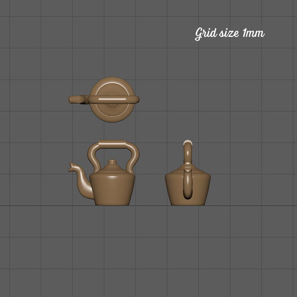 Traditional kettle, 1/144th scale
