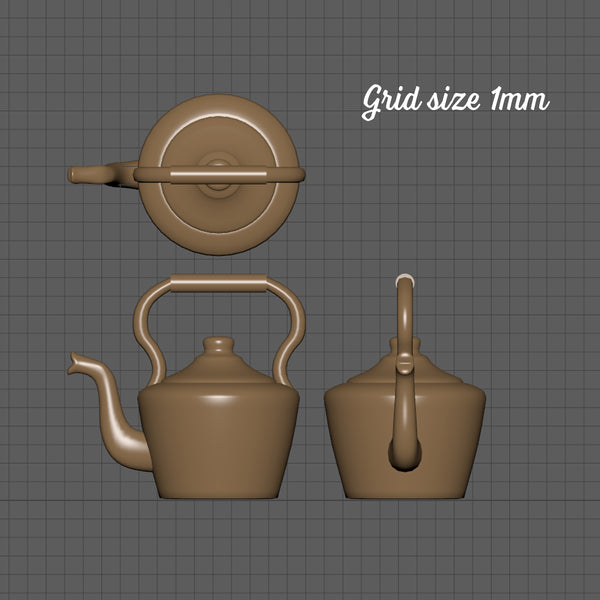 Traditional kettle, 1/24th scale