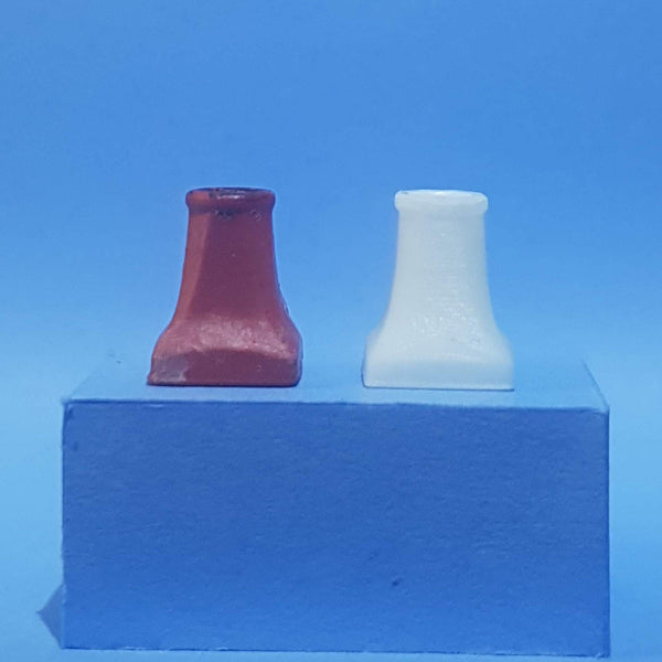 'Halifax' style chimney pot set, 1/48th scale
