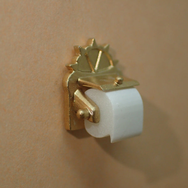 Ornate toilet roll, 1/24th scale