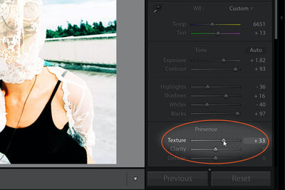 Tips for Using the Lightroom Texture Tool