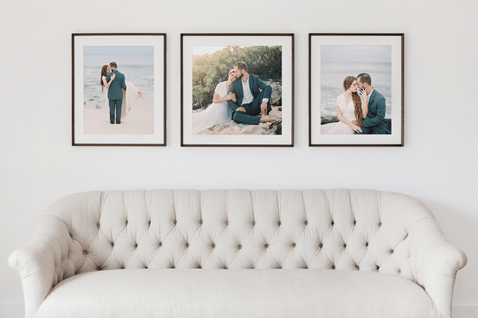 framed photos of professional photos demonstrating the potential of making money selling wall frames