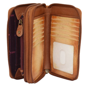 Twin Zip Organizer Wallet - 1125