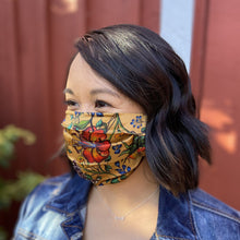 Load image into Gallery viewer, 100% Silk Pleated Face Mask - 3303