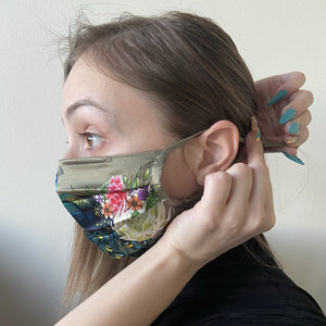 100% Silk Pleated Face Mask - 3303