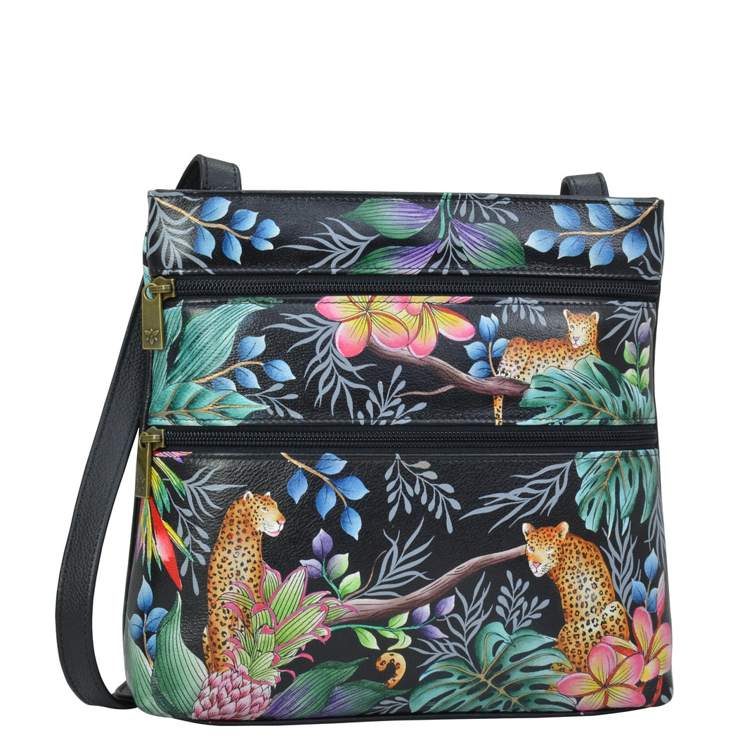 Medium Crossbody With Double Zip Pockets - 447