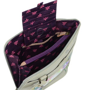 Organizer Crossbody With Extended Side Zipper - 493