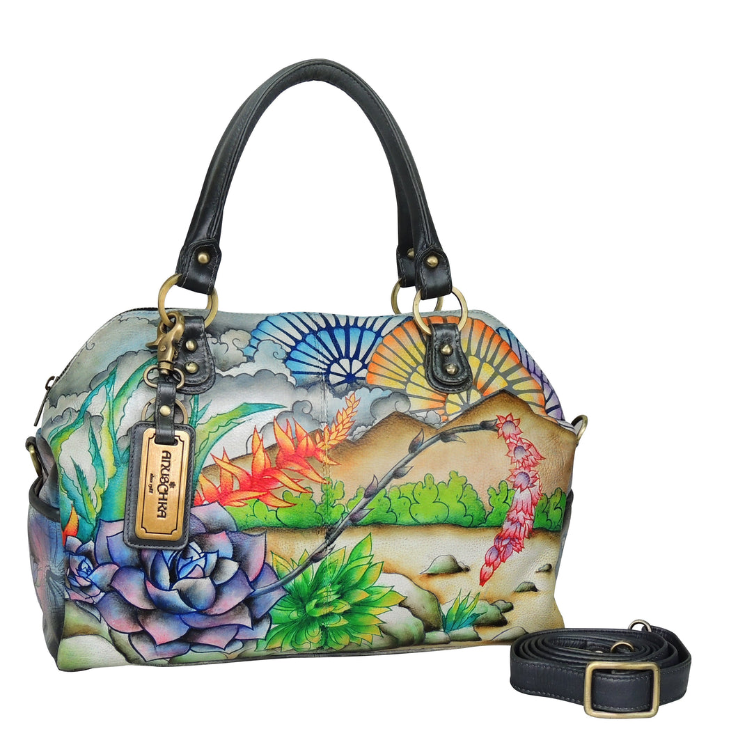 Large Convertible Satchel with Wallet & Key Ring - 522