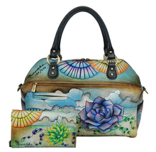 Load image into Gallery viewer, Large Convertible Satchel with Wallet & Key Ring - 522