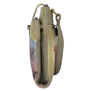 RFID Blocking Triple Compartment Crossbody Organizer - 595