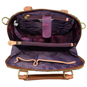 Zip Around Convertible Satchel - 606