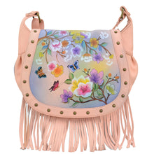 Load image into Gallery viewer, Fringed Flap Saddle Bag - 619
