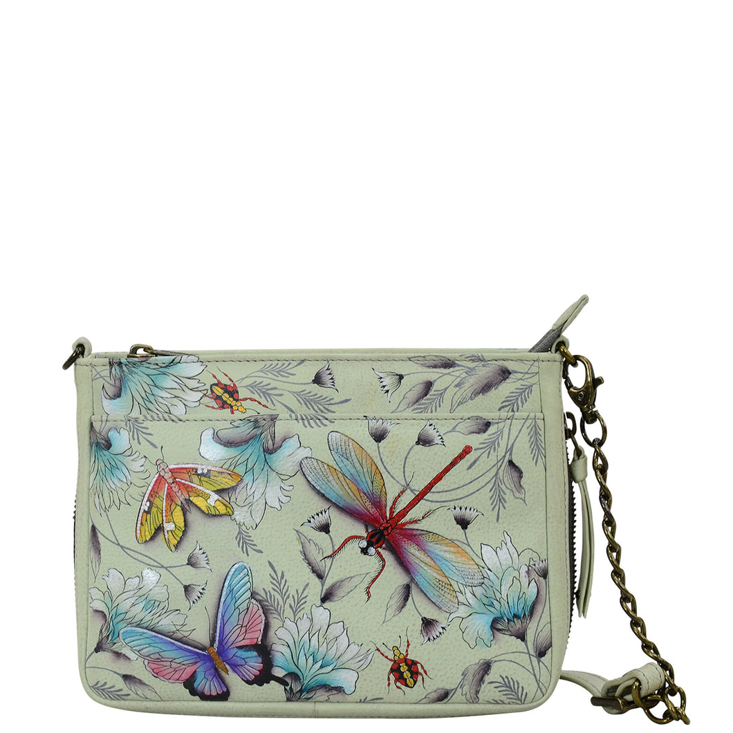 Compact Crossbody With Front Pocket - 636