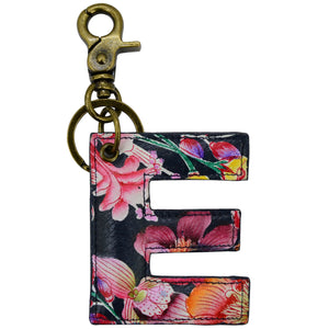 Painted Leather Bag Charm - K000E