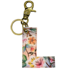 Load image into Gallery viewer, Painted Leather Bag Charm - K000L