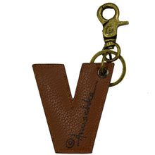 Load image into Gallery viewer, Painted Leather Bag Charm - K000V