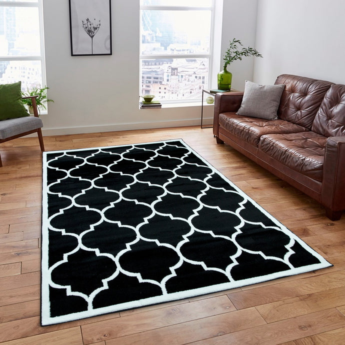 Trendy 5307 Black & Ivory Area Rug