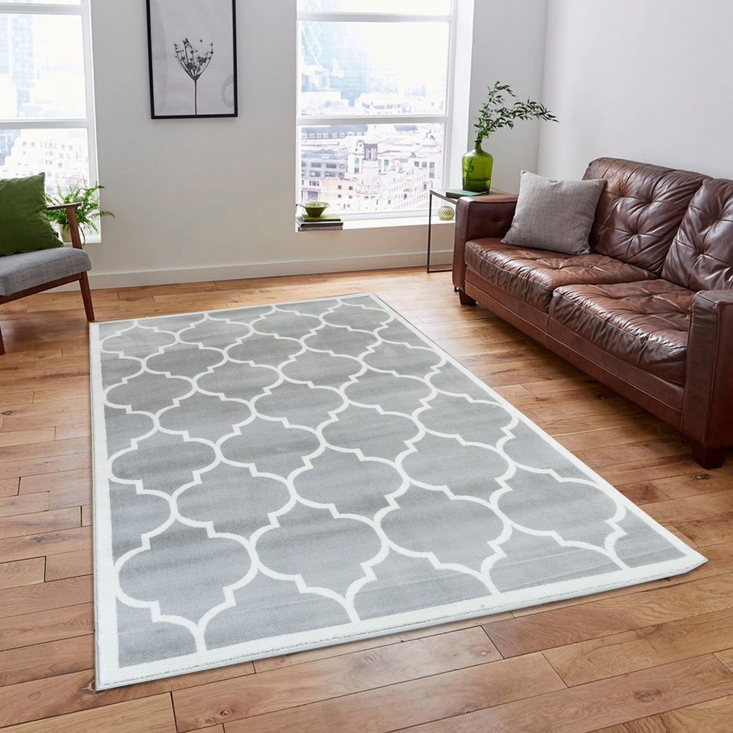 Trendy 5307 Silver & Ivory Area Rug