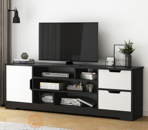 Autumn TV Cabinet Console Table Black & White
