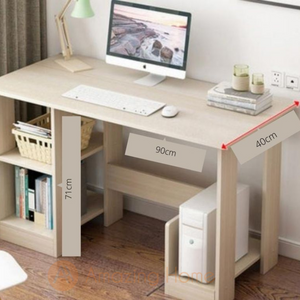 Noah Study Table With Book Shelf Small