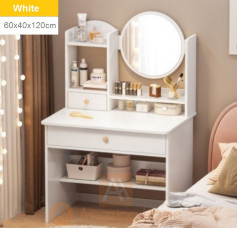 Ella Dressing Table Drawer Makeup Mirror