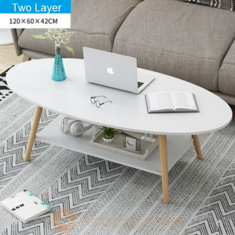 Arcadia Oval Two Layer Coffee Table