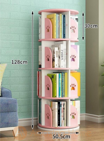 Ballet 360° Rotating 4 Layer Bookcase Bookshelf
