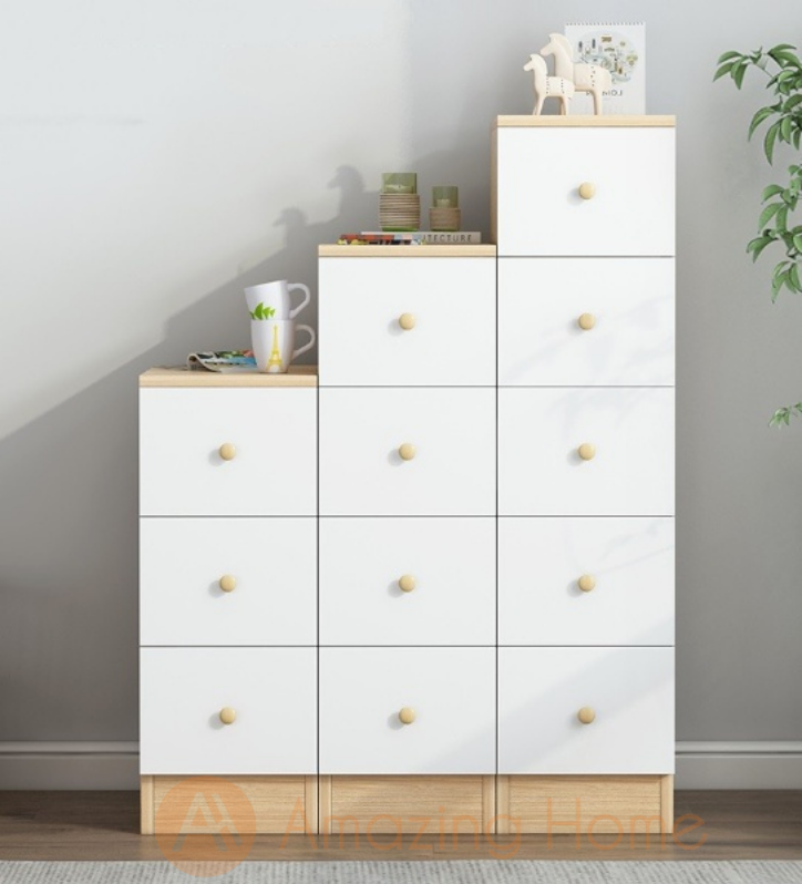 Bianca Chest of 3 + 4 + 5 Drawer Multifunctional Storage