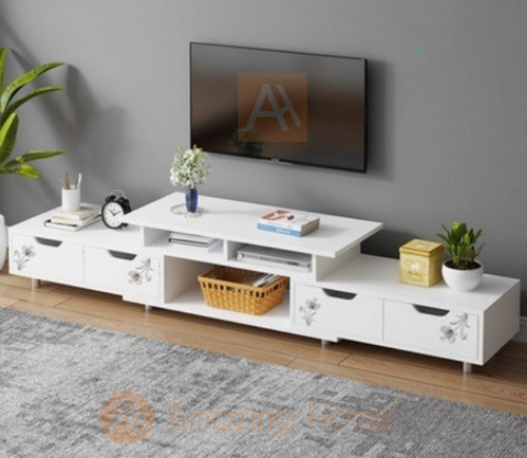 Winter TV Cabinet Medium Adjustable Length Console Table