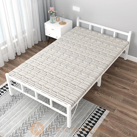 Sereno Portable Folding Bed Frame With Mattress