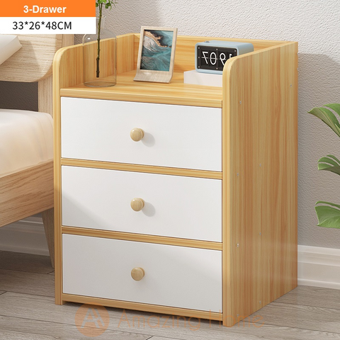 Enkel Bedside Table With 3 Drawer