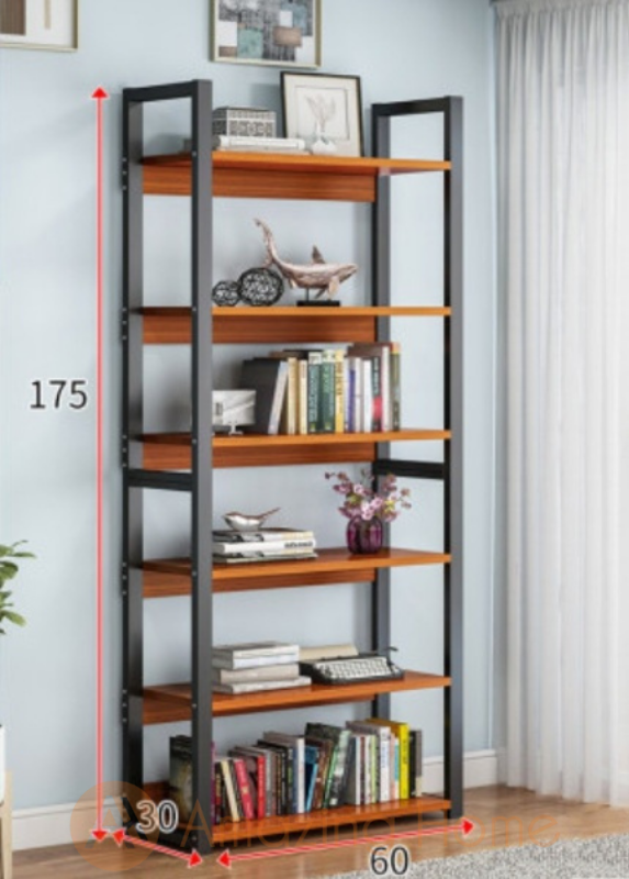 Stellan 6 Tier Bookshelf Storage Rack