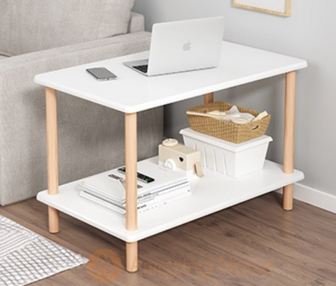 Nova Two Layer White Coffee Table
