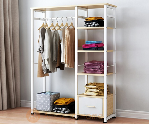 Taya Wardrobe Clothes Storage Rack Medium