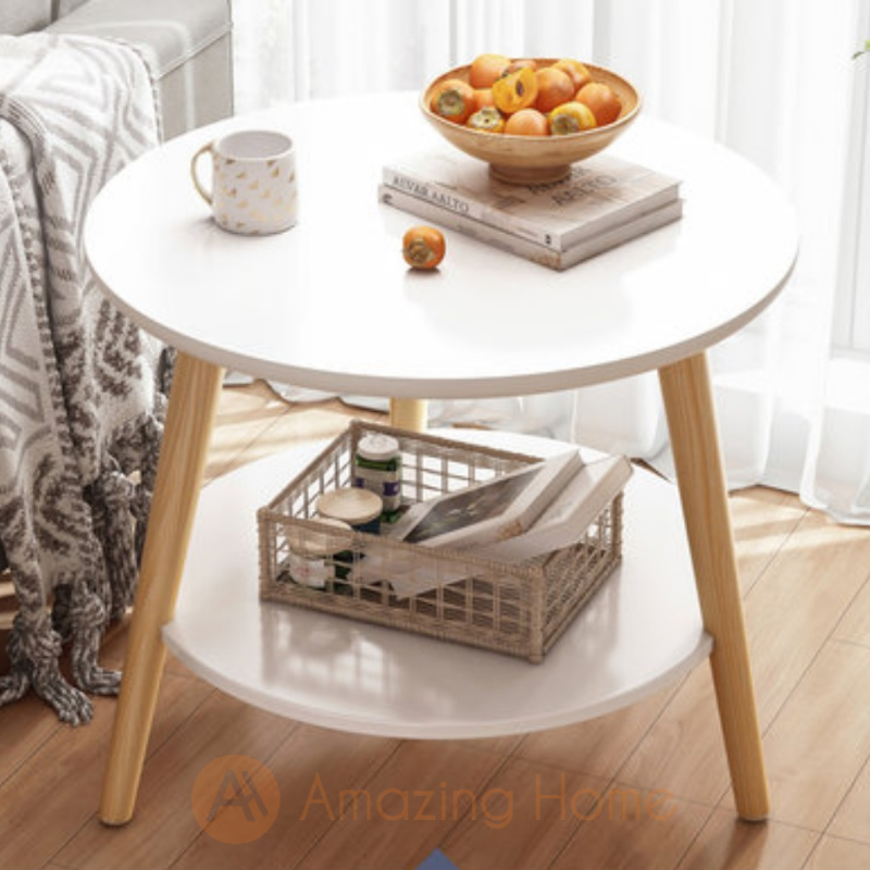 Arcadia Two Layer White Coffee Table