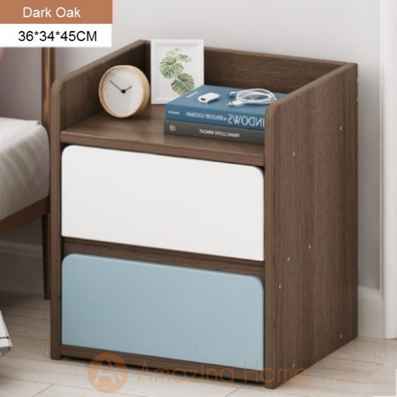 Bellezza Bedside Table 2 Drawer