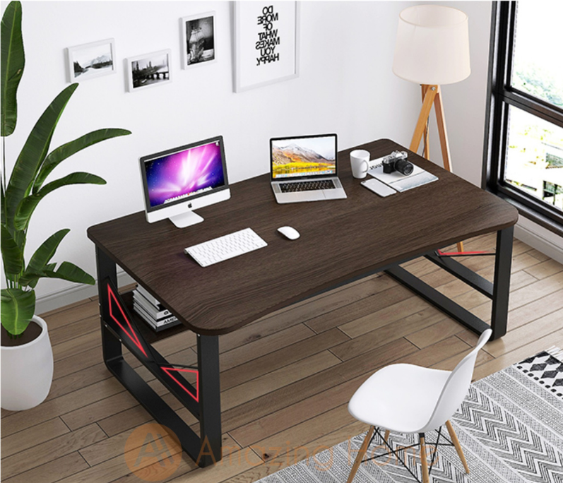 Aquino Study Table With Book Shelf Large