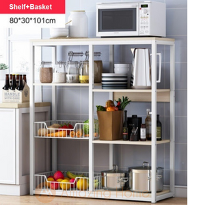 Phoenix 5 Tier Kitchen Shelving Unit Storage With 2 Basket