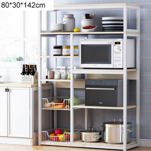 Phoenix 6 Tier Kitchen Shelving Unit Storage With 2 Basket