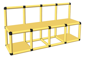 Clam Pool Platform with Rail (Open)
