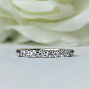8 Lab Grown Diamond Band in White Gold