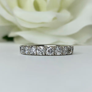 9 Lab Grown Diamond Band in White Gold
