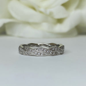 AR7213 double diamond braided band - size 6