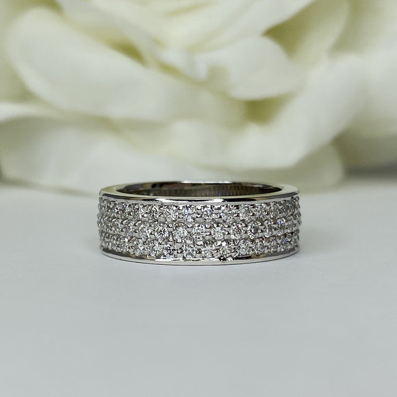 Pave Diamond 3/4 Eternity Band