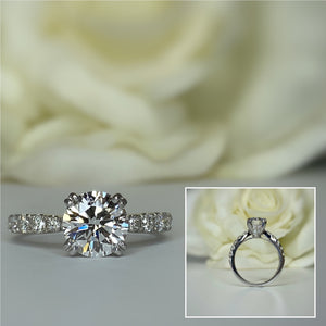 Lab Grown Diamond Solitaire Engagement Ring