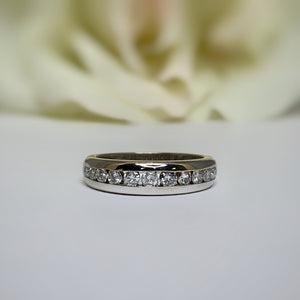 AR 6508 channel set diamond band - size 6.5