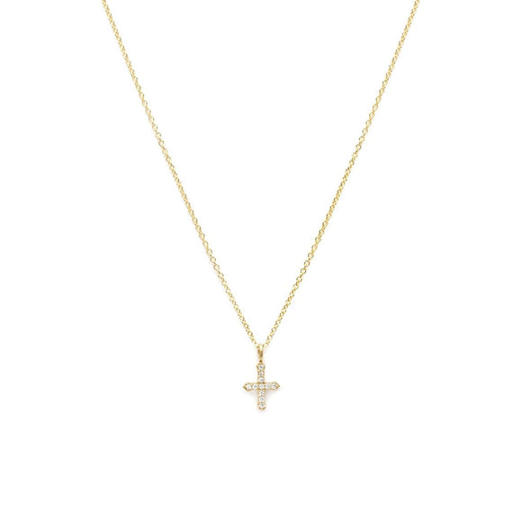 Cross Necklace Gold Plate
