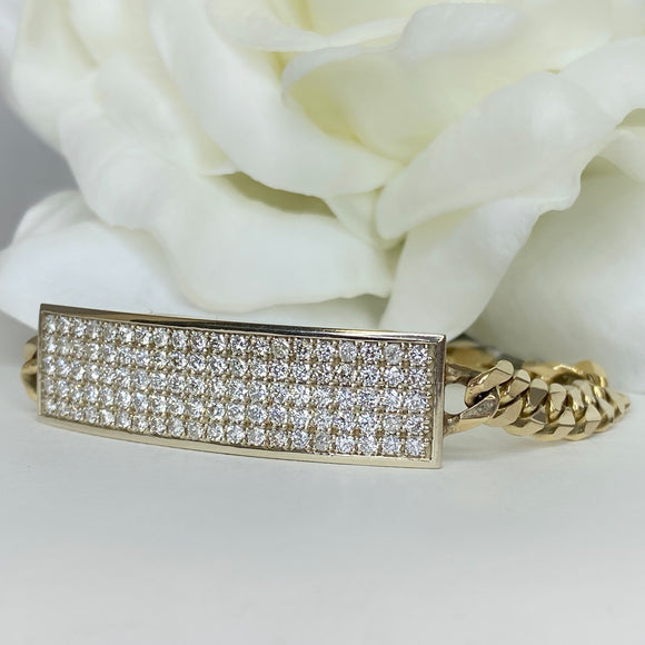 Custom Diamond bar bracelet