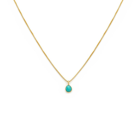 Sofia Slice Necklace Turquoise